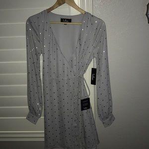 Grey Crossover Dress
